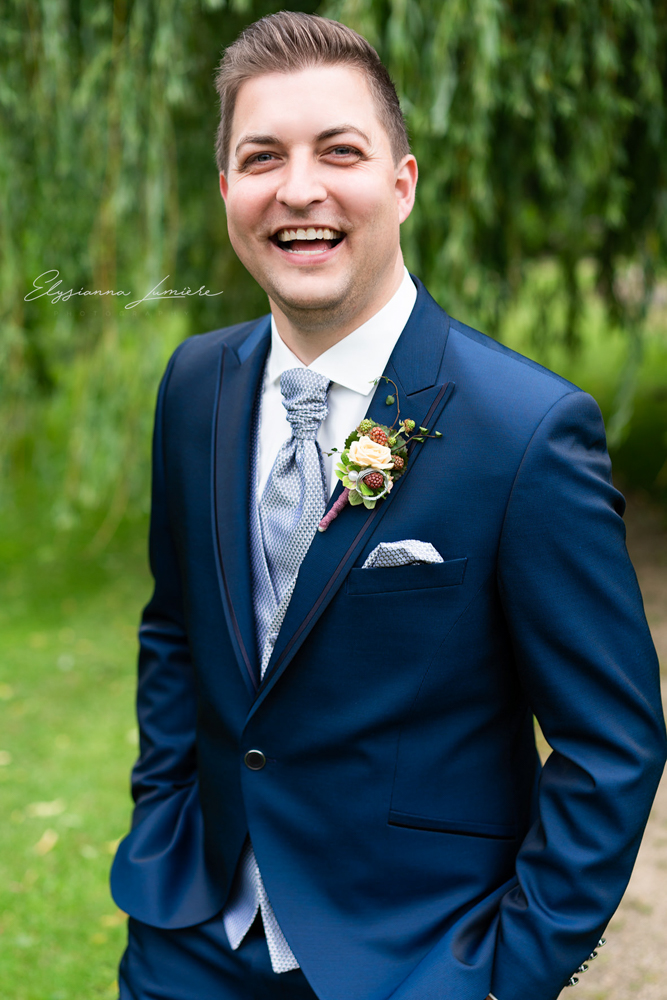 Hochzeitsfotograf Visbek Portrait des Bräutigams