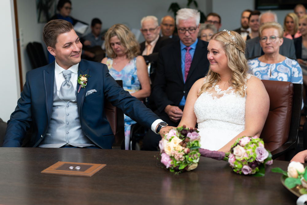 Braut Freudentränen bei der Traurede in Visbek