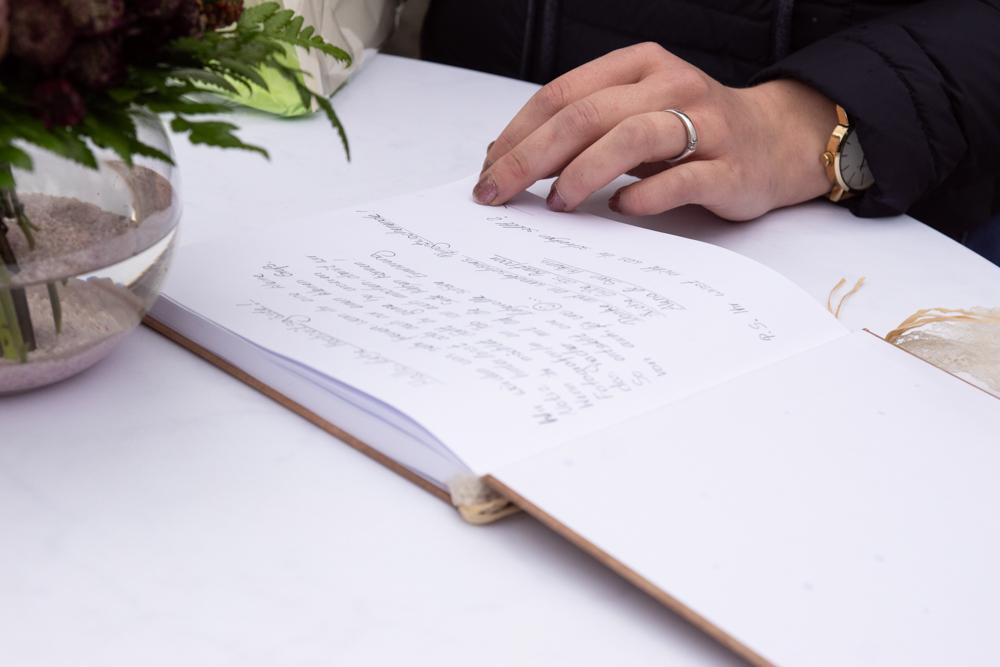 Gästebuch Hochzeit Visbek im Standesamt