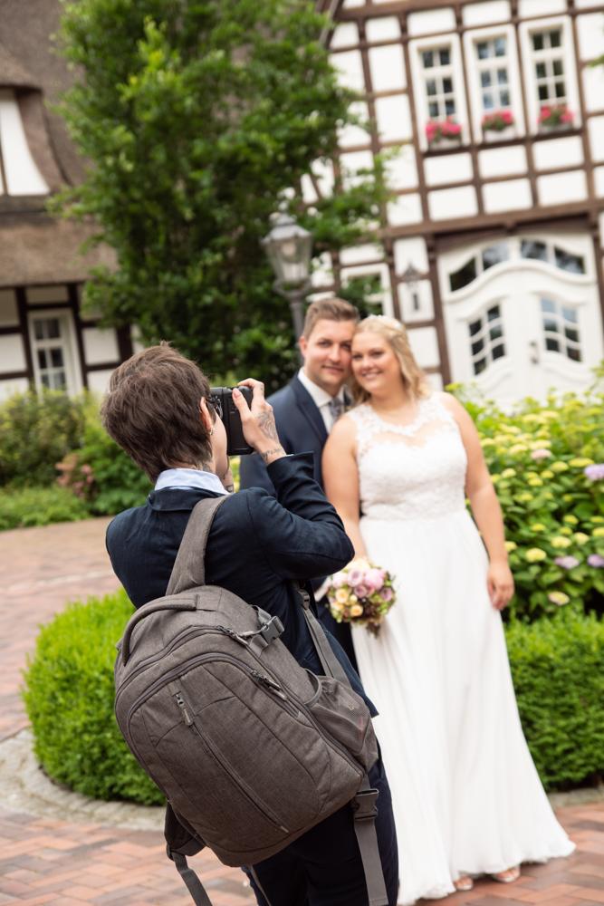 Making of vom Brautpaarshooting