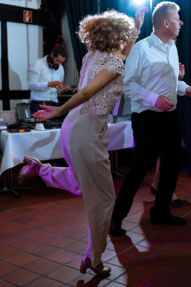 Partyfotos der Hochzeitsfeier am Abend
