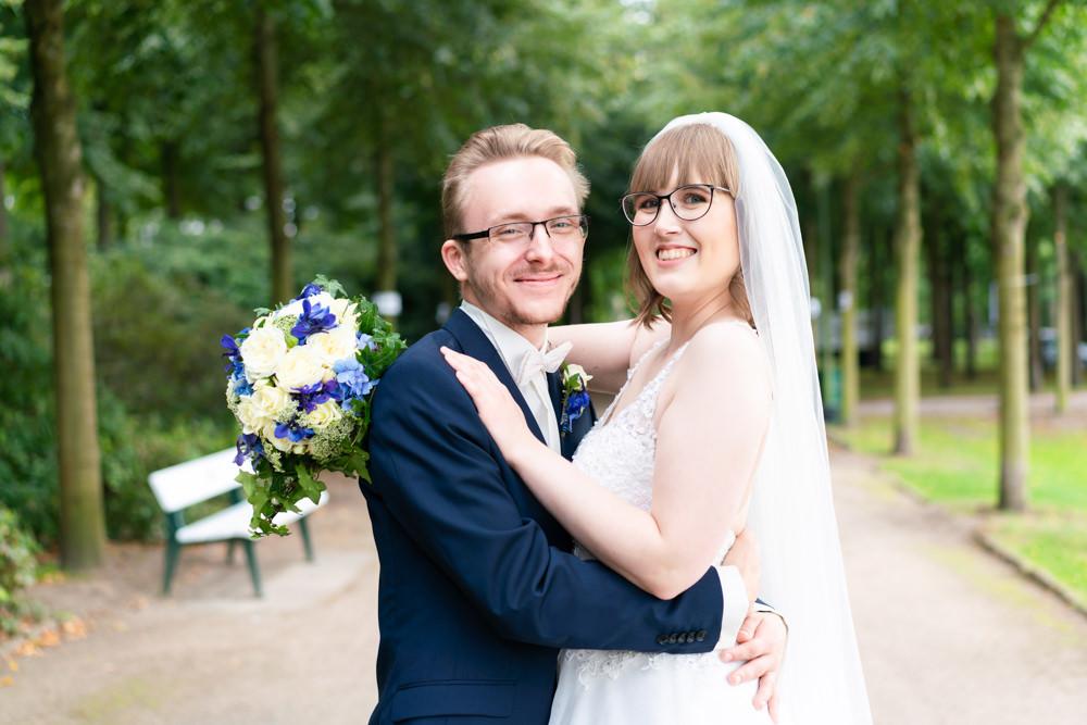 Hochzeitsfotograf Bremen Paarshooting im Bürgerpark Paarporträt