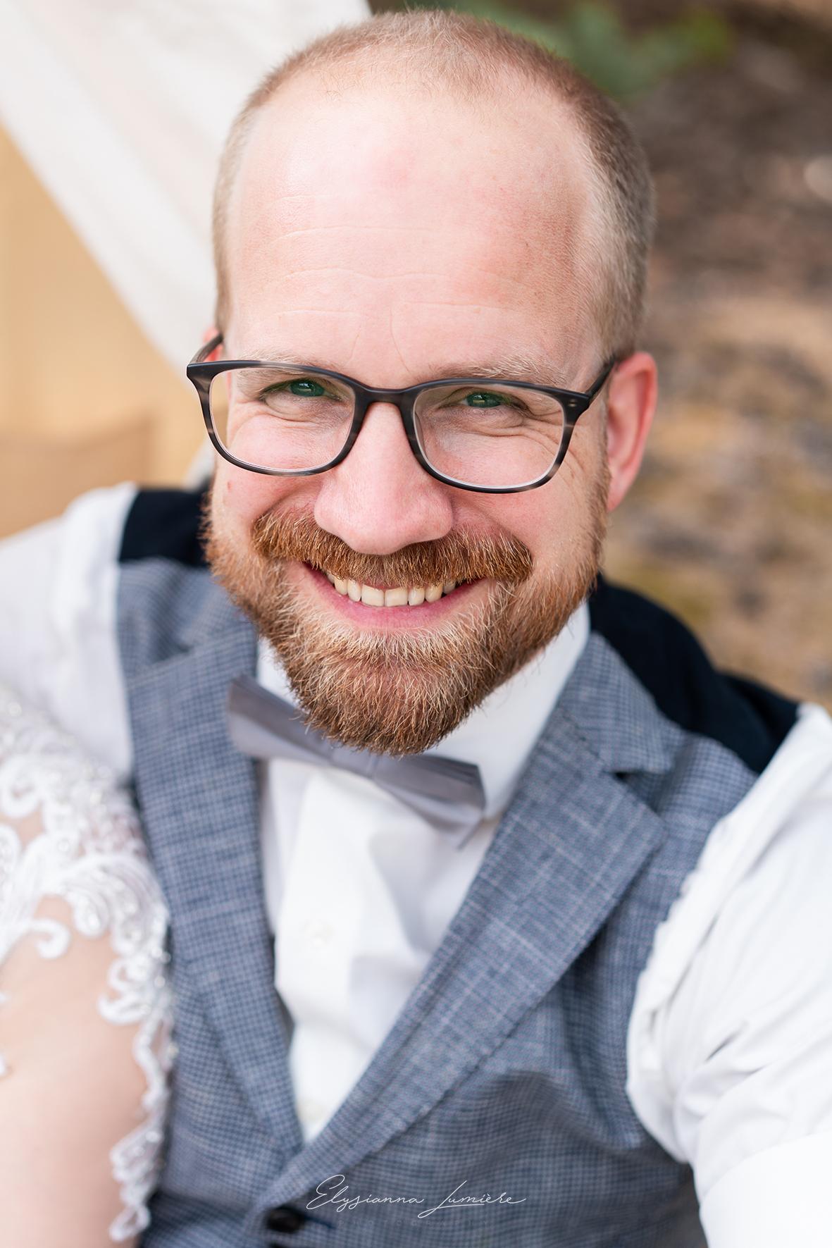 Portrait des Bräutigams Hochzeitsfotograf