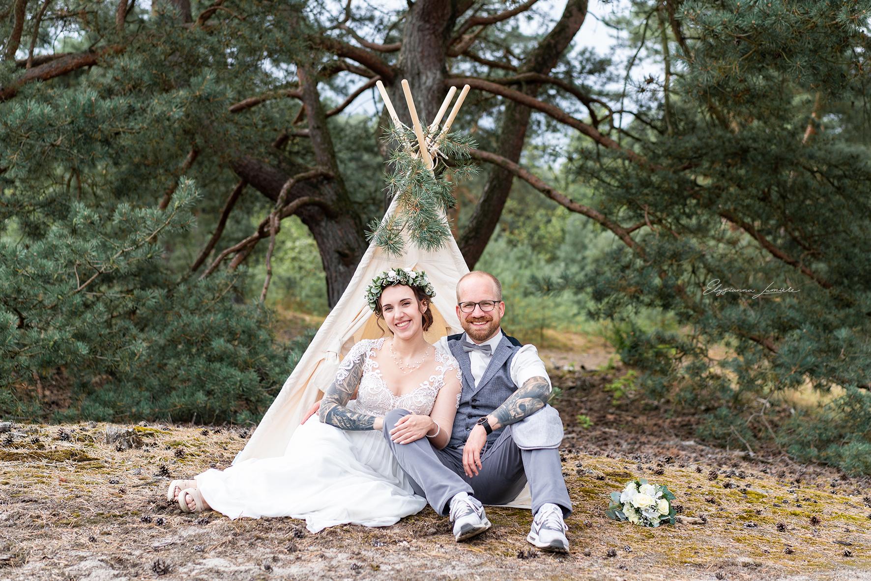 Hochzeitsfotografie Bremen Bohoshooting mit Tipi