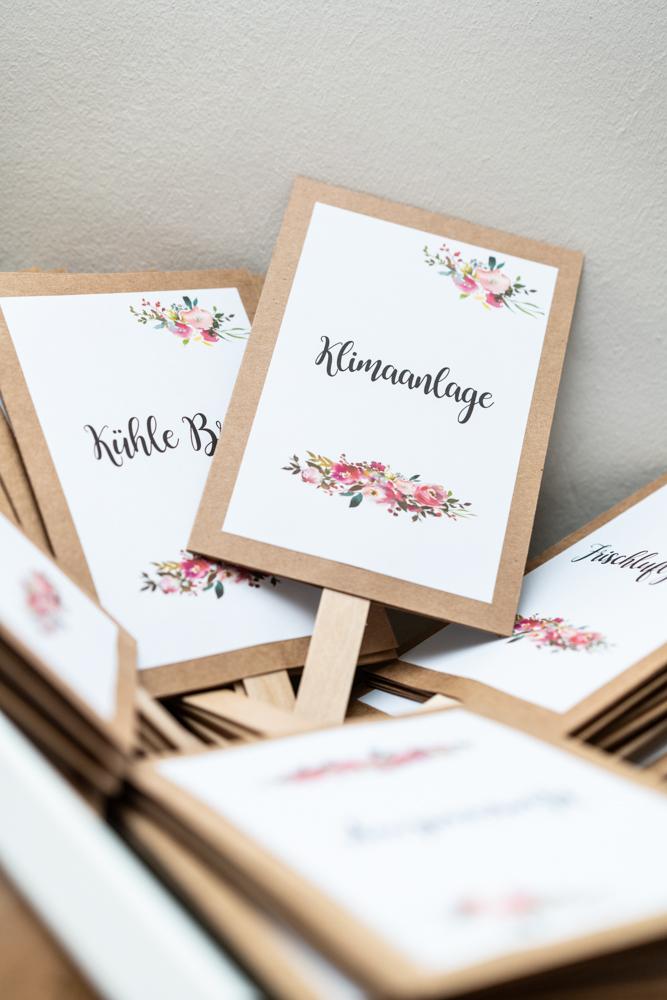 Fächer für die Gäste der Hochzeit Hochzeitsfotografin Bremen