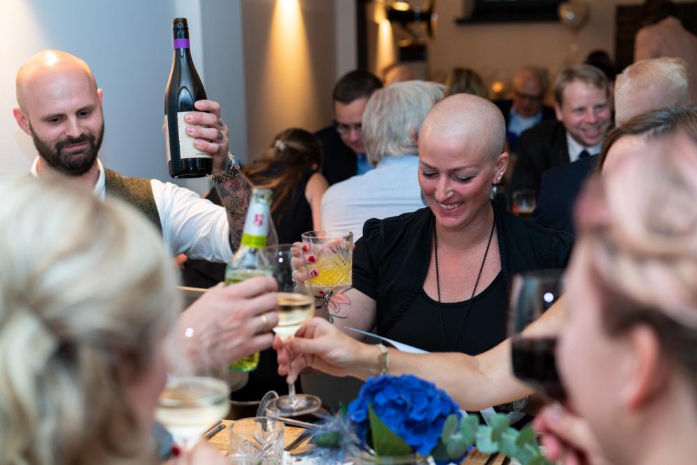 Auf das Leben Sektempfang Hochzeitsparty Bremen Fotograf Schnoor