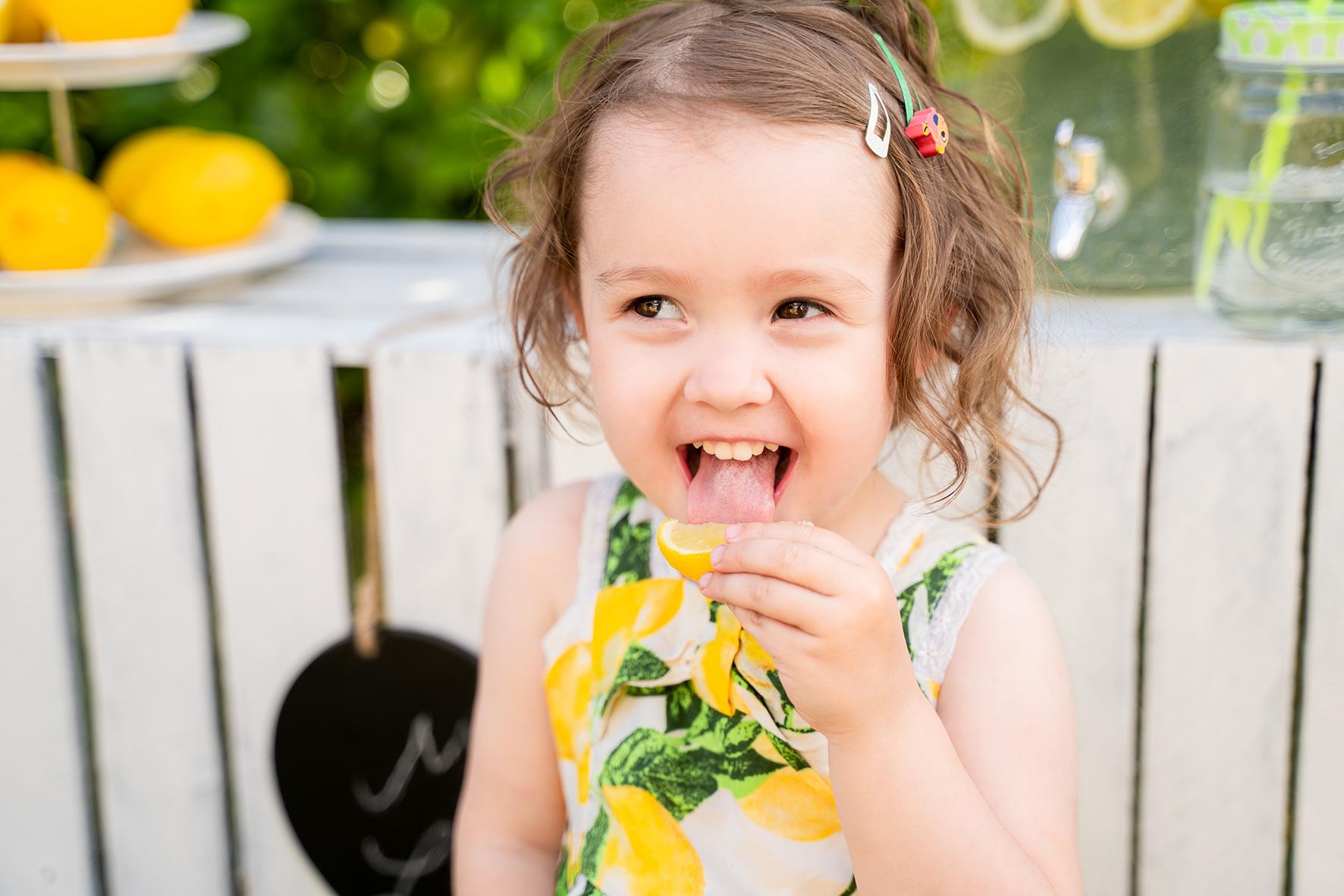 Zitronenshooting mit Kindern Fotografin Bremen