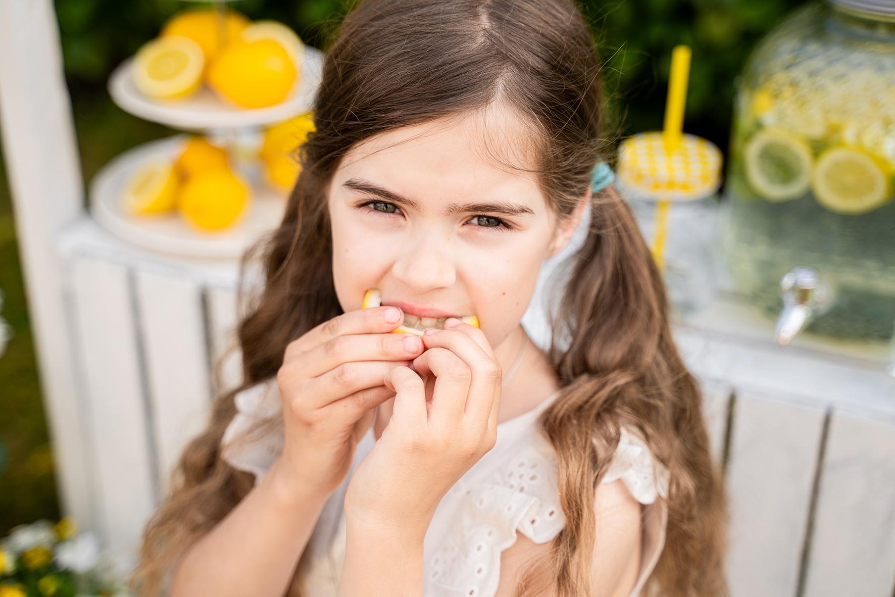 Kindershooting mit Limonadenstand in Lilienthal Fotostudio Bremen
