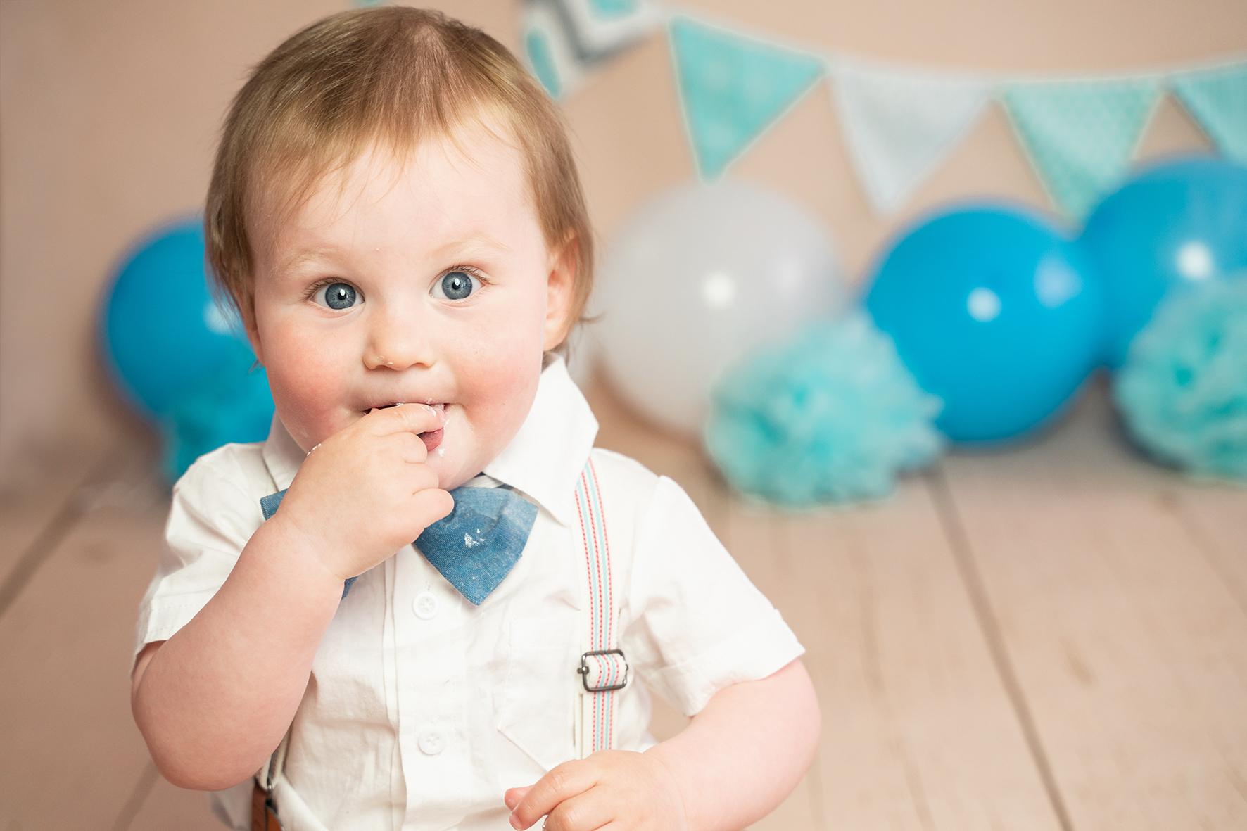 Babyshooting zum ersten Geburtstag Fotografin Bremen