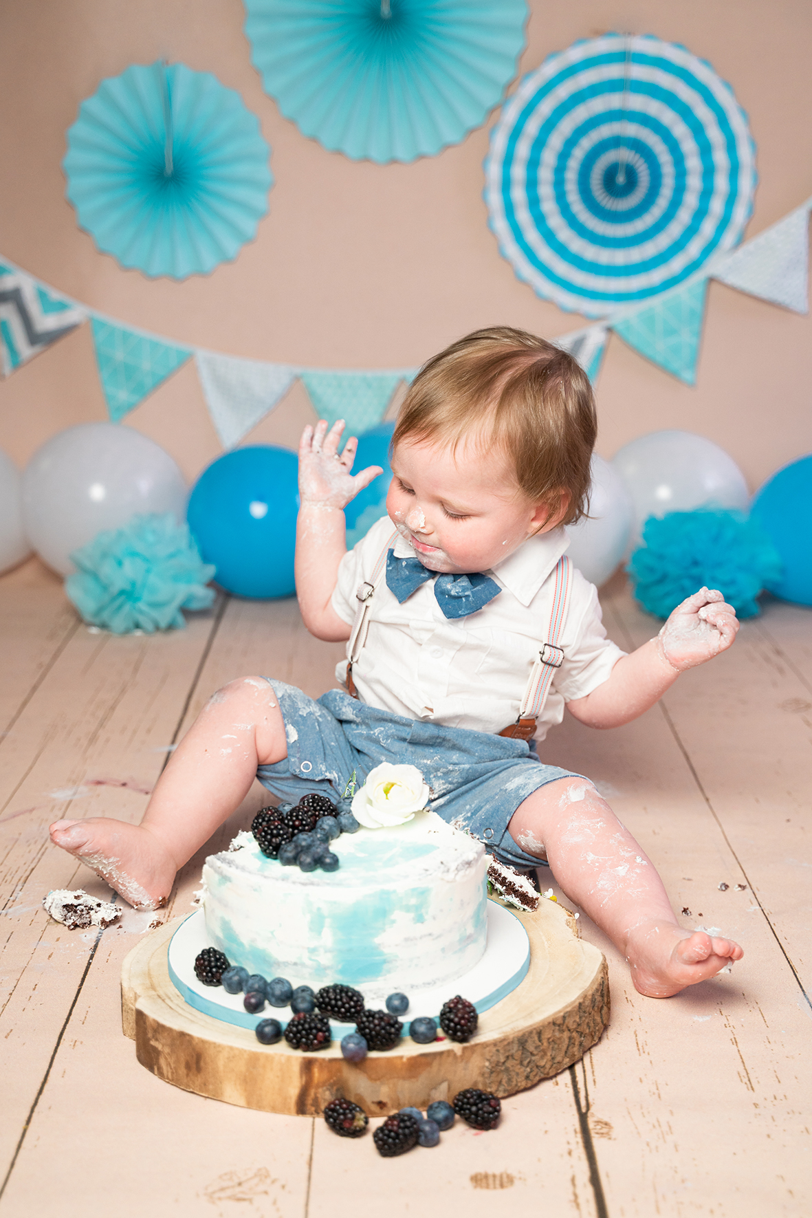 Babyfotograf Bremen mit Fotostudio Shooting zum ersten Geburtstag
