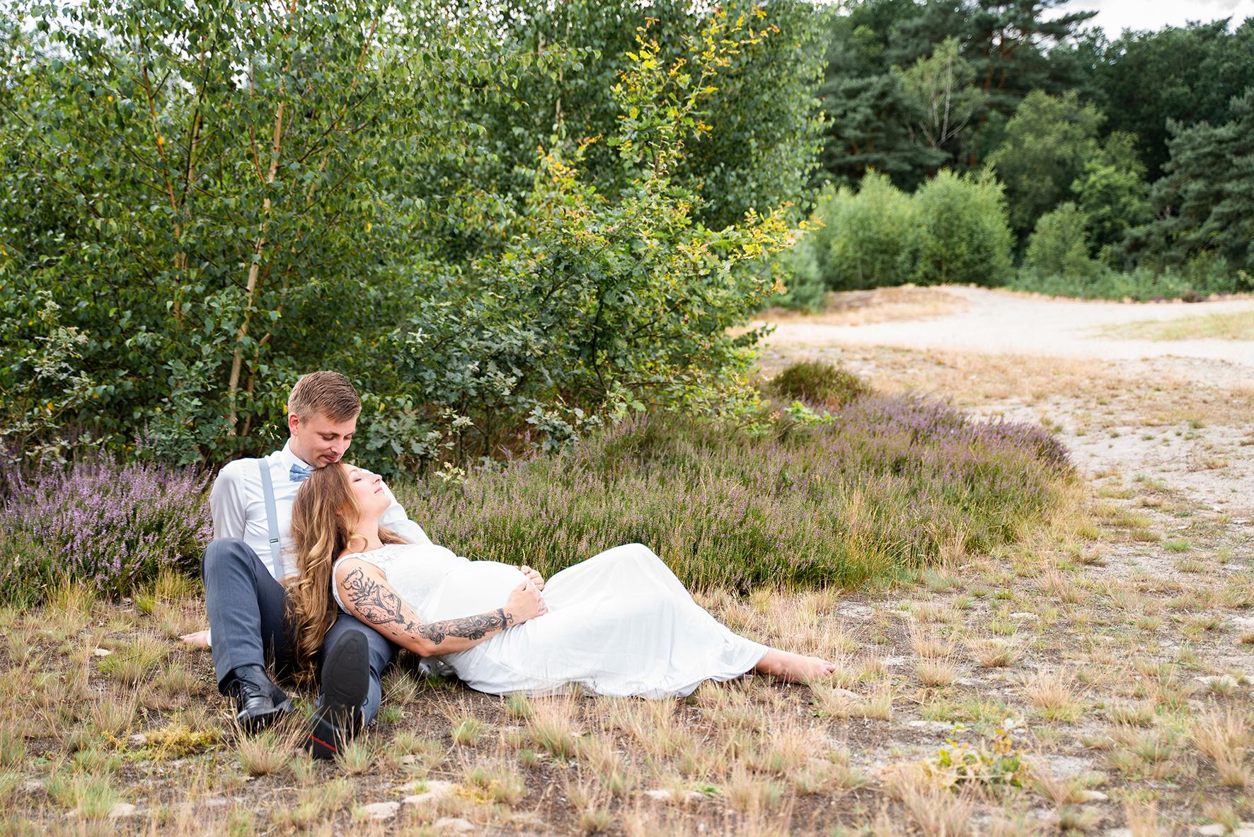 Brautpaar Picknick in den Dünen Hochzeitsfotograf Bremen