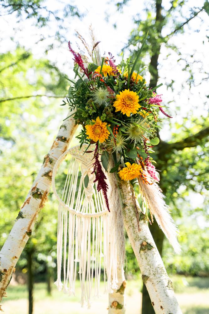 Blumenschmuck am Traurigen Hochzeitsfotograf Bremen