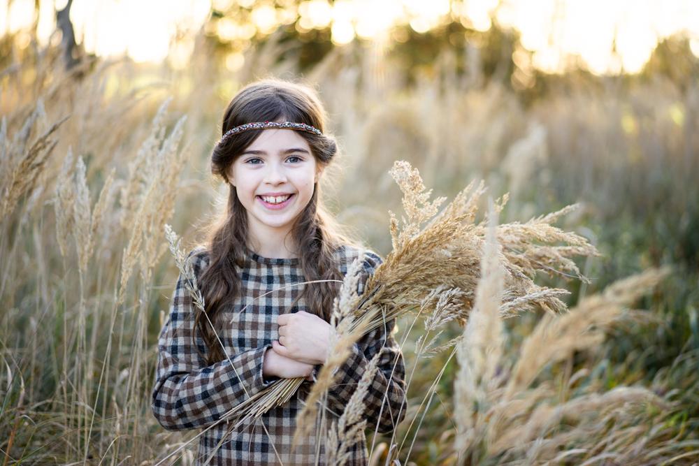 Kinderfotografin bremen Fotoshooting im Feld