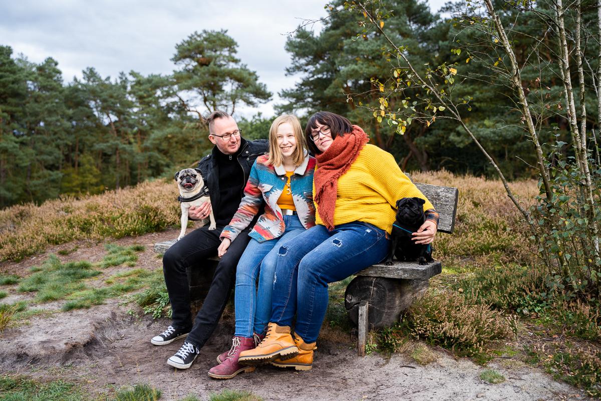 Familienfotoshooting in bremen auf der Parkband Heidelandschaft Fotografin Oldenburg