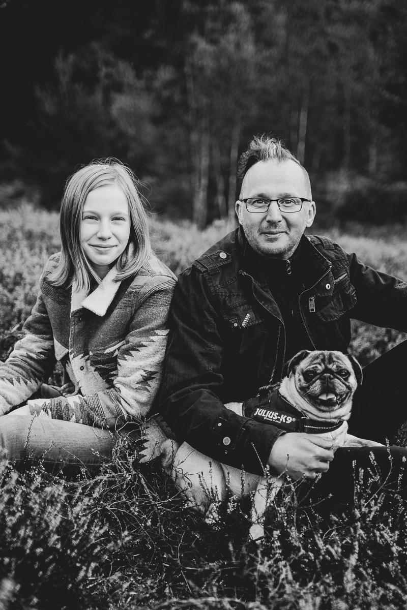 Fotoshooting mit der Familie in der Heide Familienfotos Bremen und Oldenburg