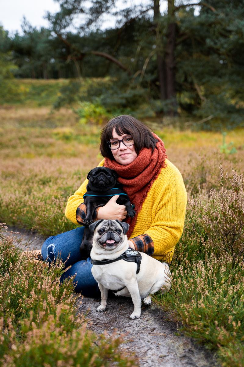 Portaritfotos in der Heide mit Hunden Hundeshooting Bremen