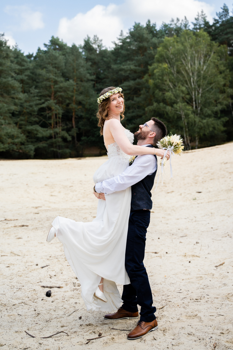 Brautpaarfots in den Dünen Hochzeitsfotograf bremen bassum