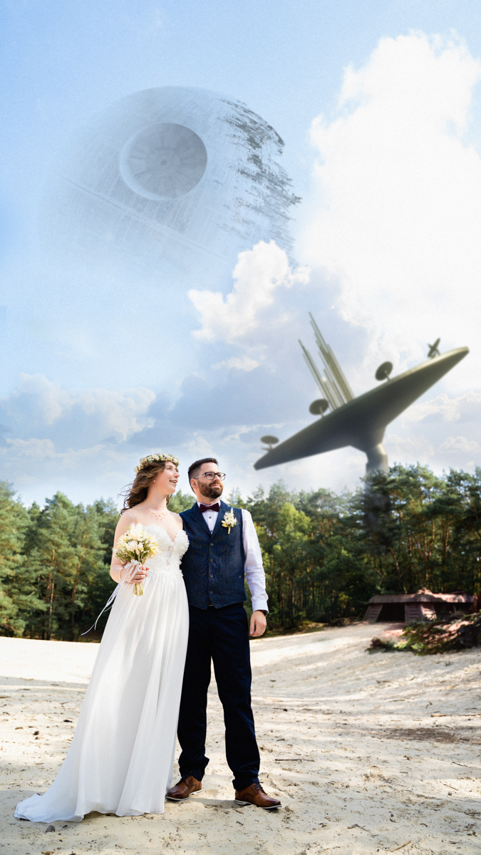 Star Wars Hochzeitfoto Hochzeitsfotograf Themenhochzeit Bremen