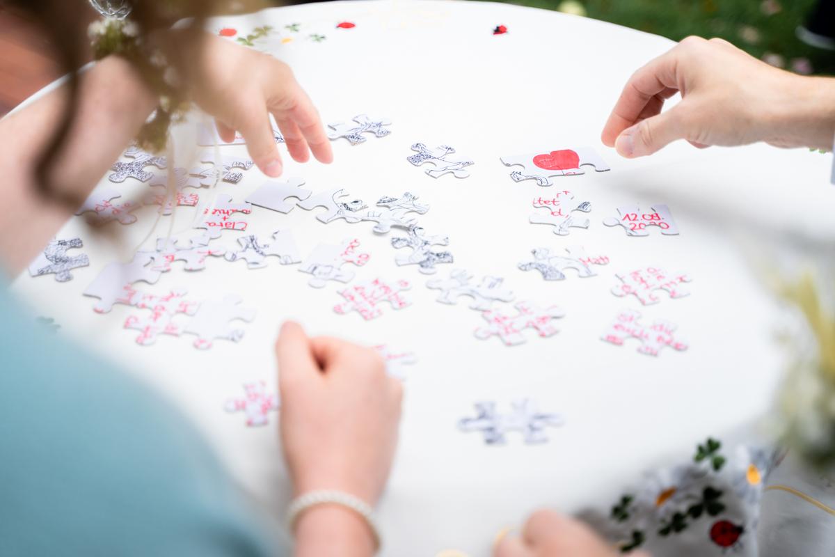 Puzzledetail Hochzeitsfotos Bremen Bassum