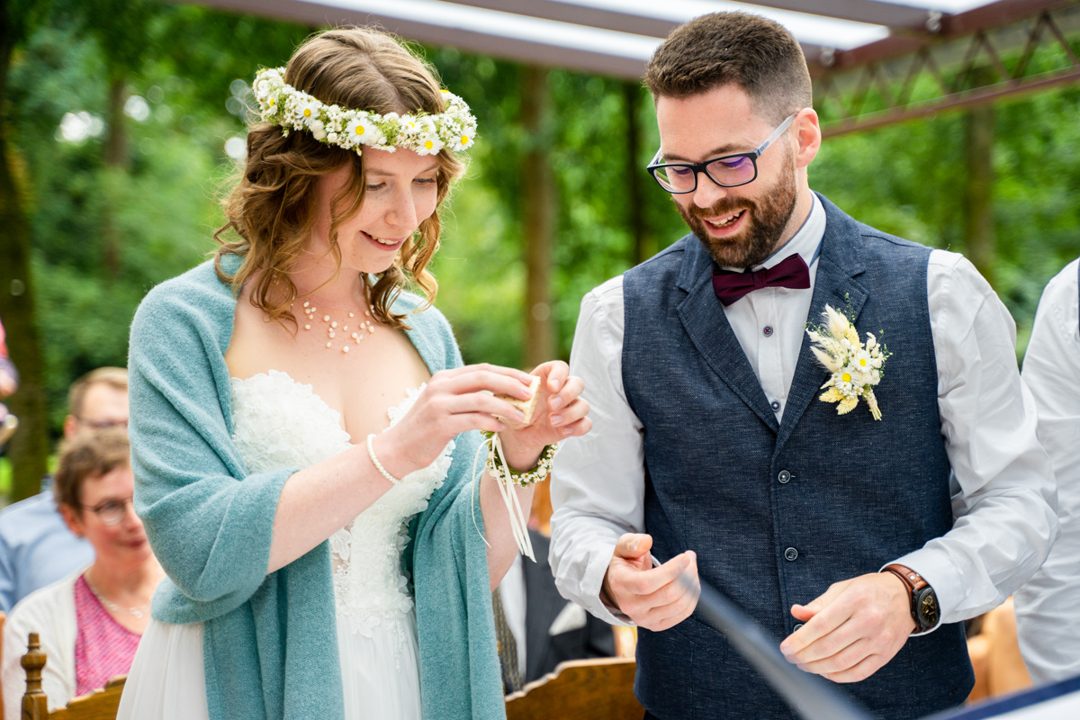 Ringwechsel Hochzeit auf der Freudenburg bassum