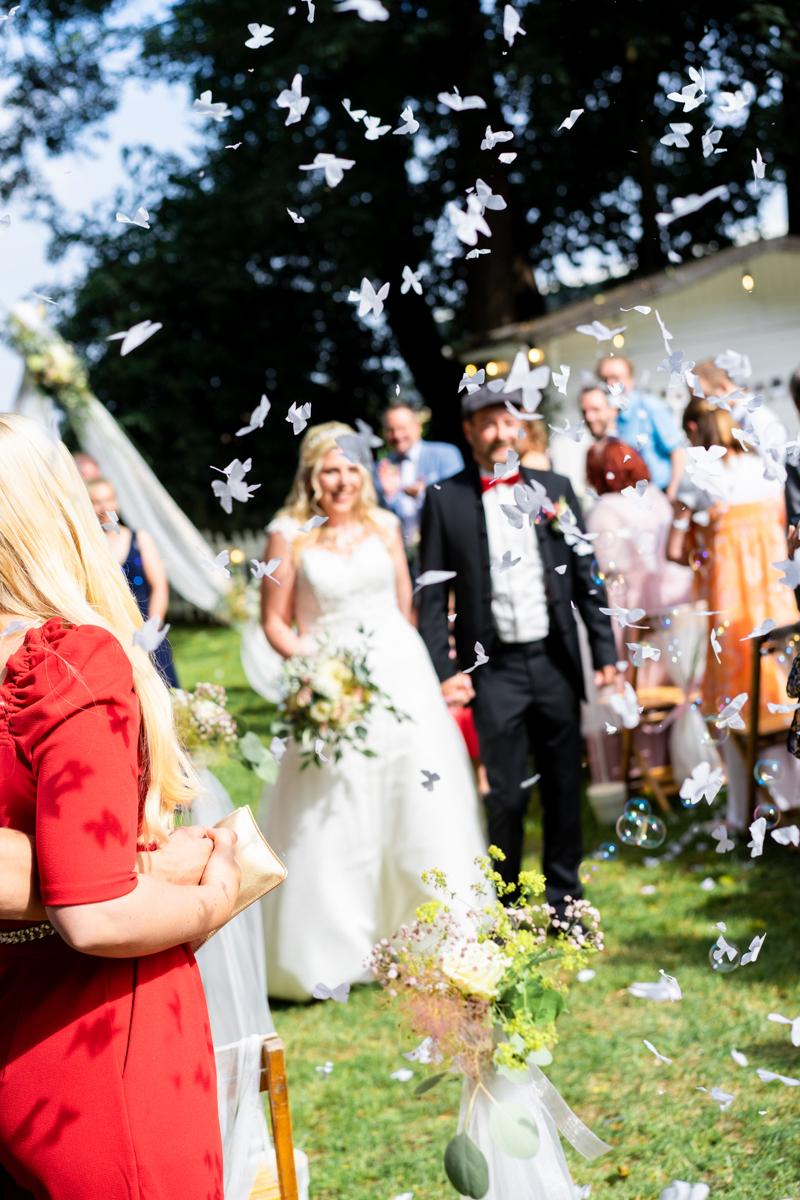 Schmetterlingskonfetti Hochzeit Bremen