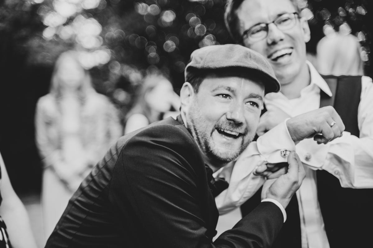Manschettenknöpfe mit Foto des Brautpaares