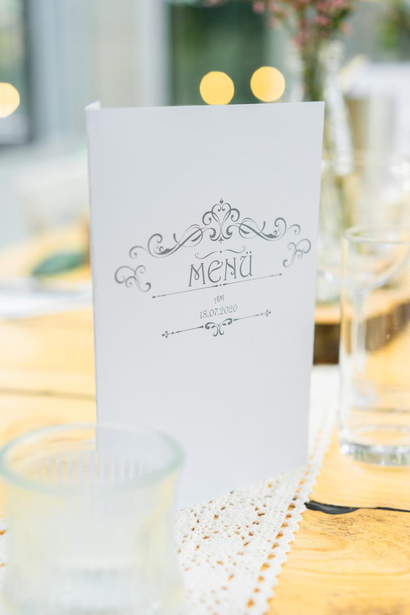 Menükarte Hochzeit in Bremen