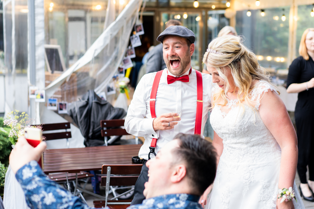 Livecall bei der Hochzeit Reportagefotos Bremen