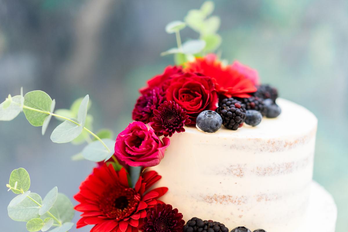 Topping der Hochzeitstorte