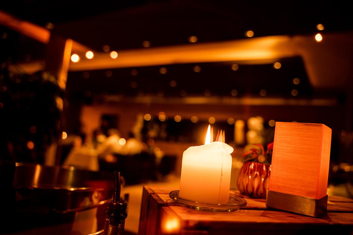 Lichtstimmung in den Abendstunden auf der Hochzeitsfeier