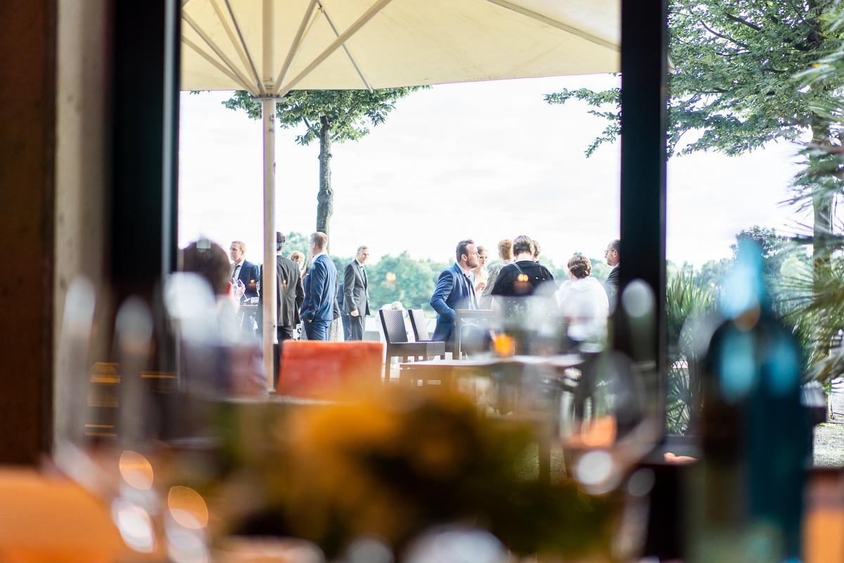 Gästeempfang an der Weserpromenade des Riva
