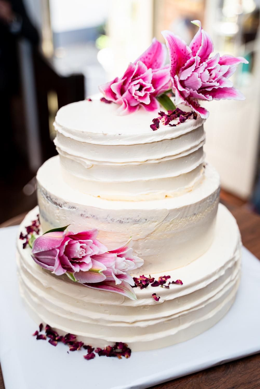 Detailfoto der Hochzeitstorte von Vanilla Instinct Bremen