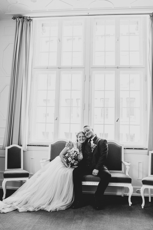 Hochzeitsfotos im Saal des Rathauses Bremen