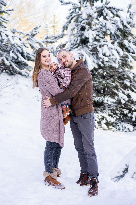 Fotoshooting im Schnee Familienfotograf Bremen