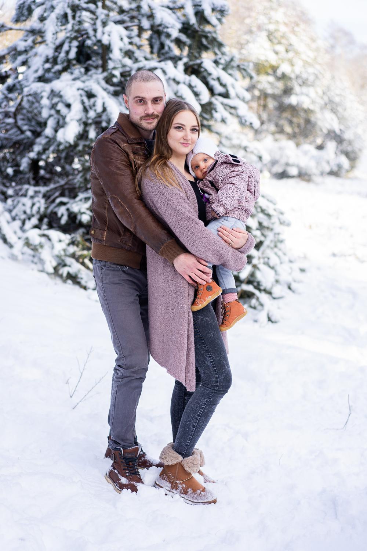 Familienfotos Bremen Winterfotoshooting Familienbilder im Schnee