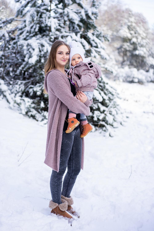 Familienshooting im Schnee Fotoshooting mit Kindern in Bremen