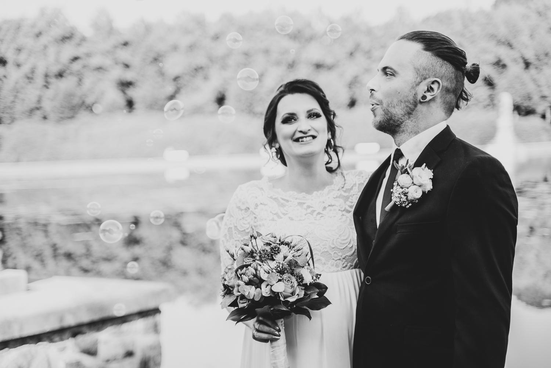 Seifenblasen weg pusten Hochzeitsfotograf Bremen