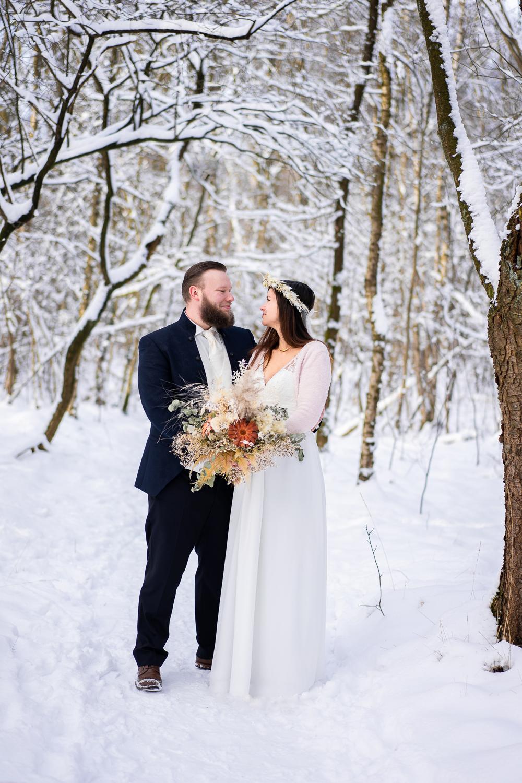 Hochzeitsfotos im Schnee After Wedding Shooting Bremen