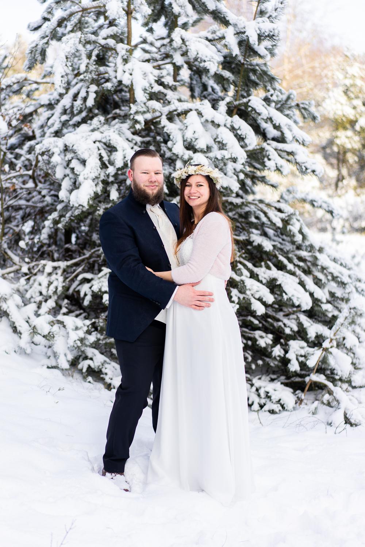 Hochzeitsfotografin Lilienthal Heiraten im Winter Hochzeitsfotos im Schnee