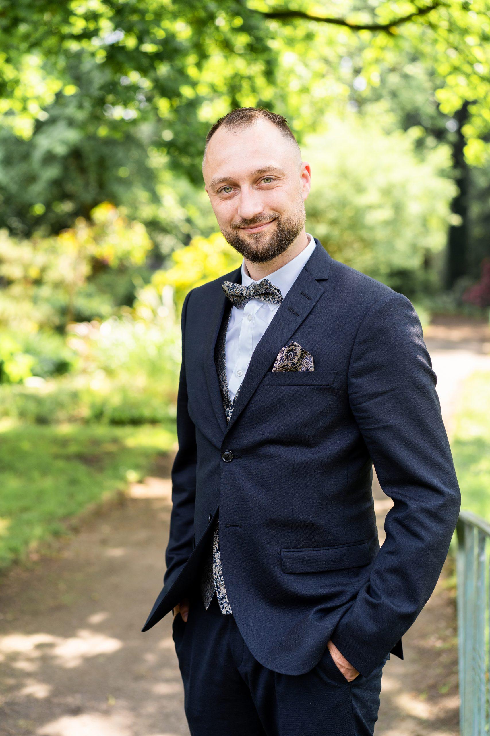 Bräutigam Bremen Verheiratet Braut Mann Park Rhododendronpark