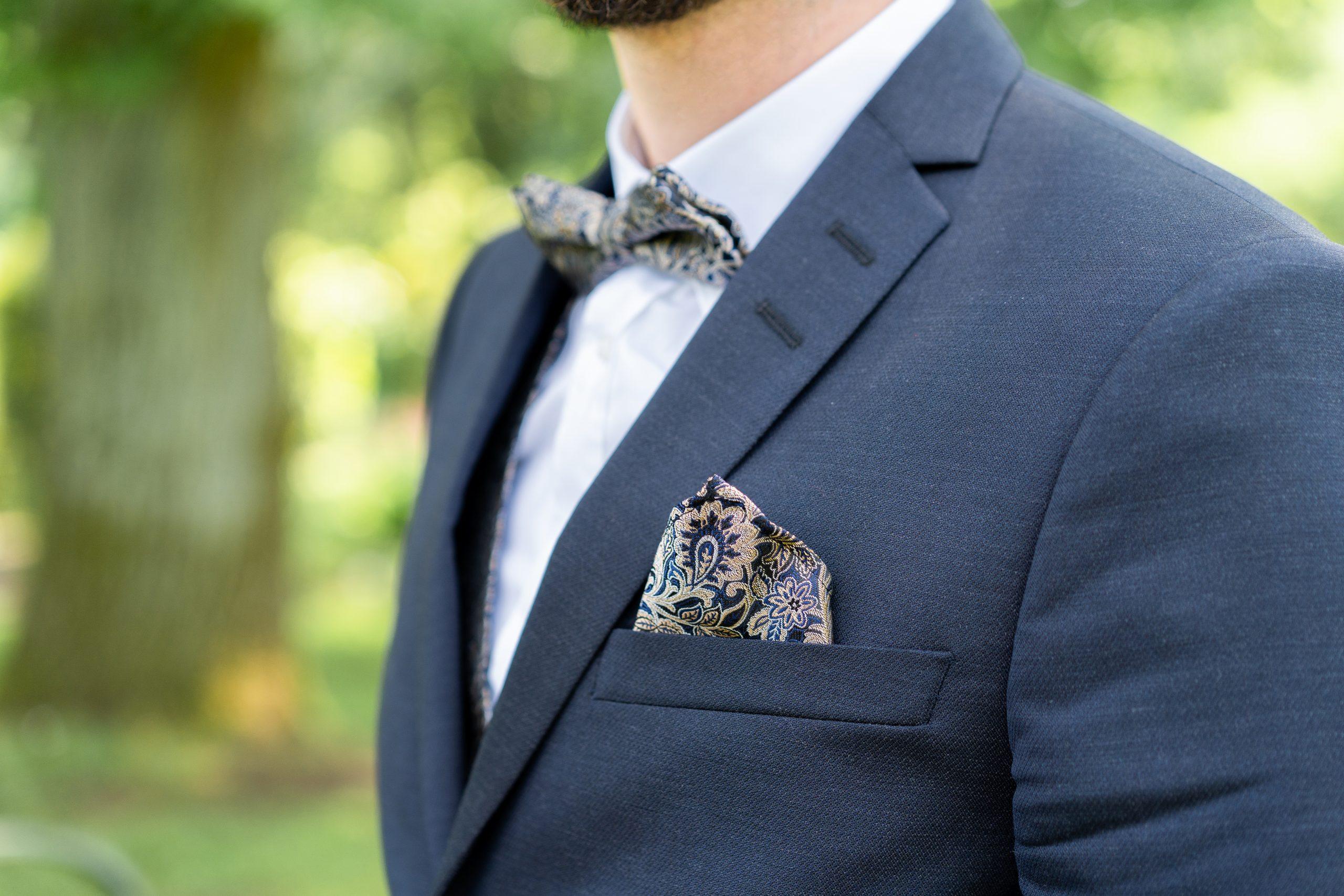 Bräutigam Mann Anzug Nahaufnahme Hochzeitsfotograf