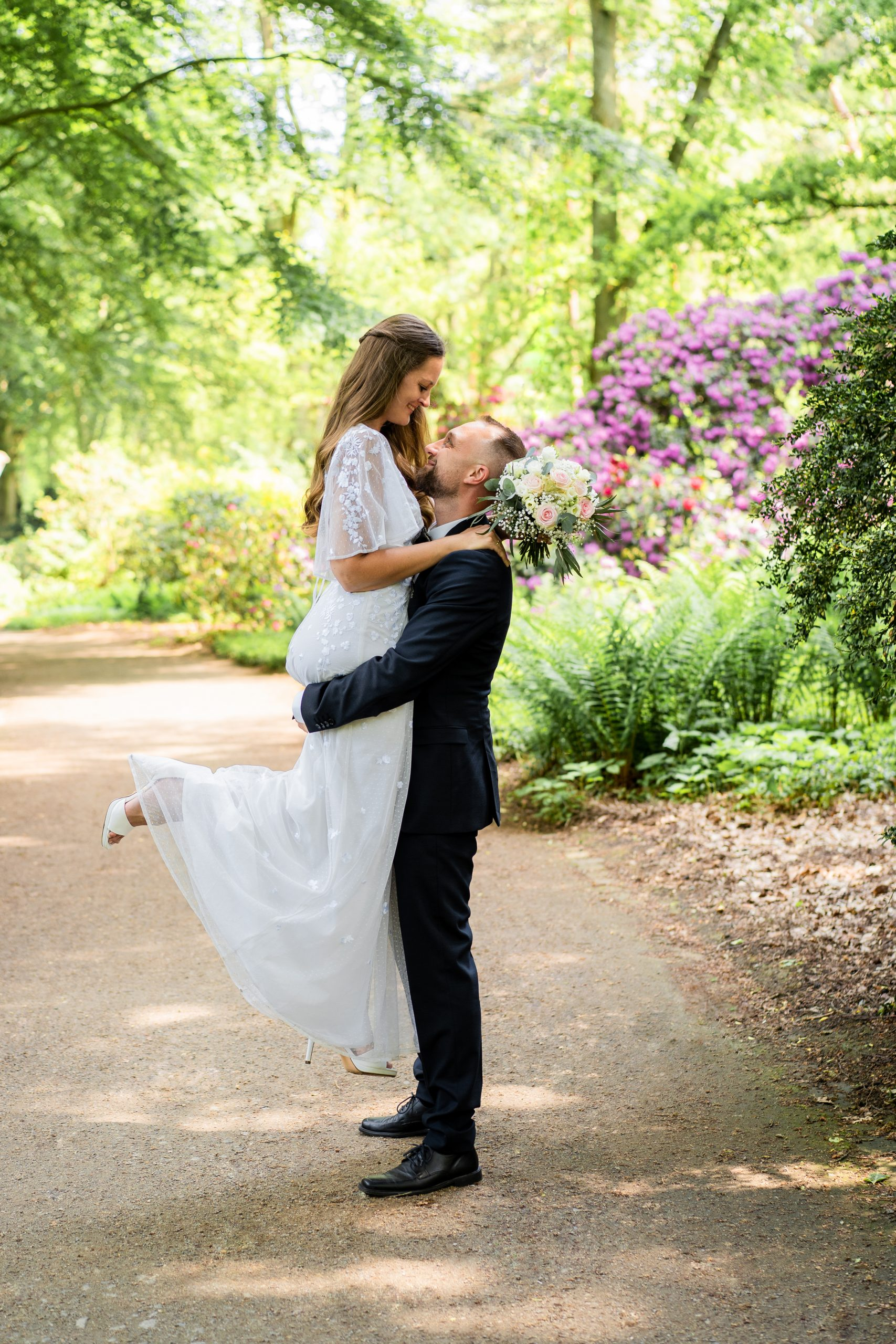 Hochzeitsbilder Hochzeitsfotograf Bremen Rhododendronpark Liebe Verliebt Ehepaar Hochzeitspaar
